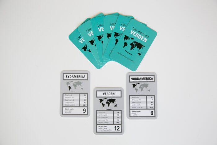 Designed Learning Battlekort med verdensdele