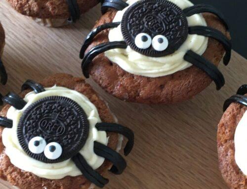 Seje edderkoppe-muffins
