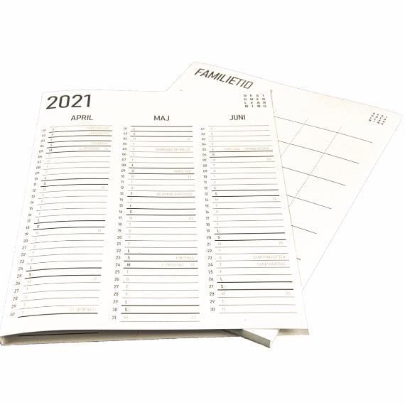 Familietid, refill kalender, design